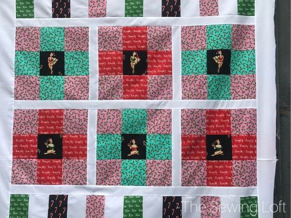 The Under the Mistletoe fabric collection from Michael Miller was perfect for a quick holiday quilt.