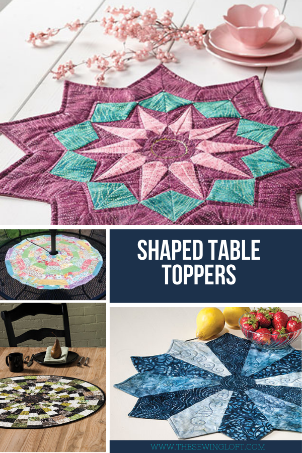 DIY Table Runner Patterns. Round-Up on The Sewing Loft