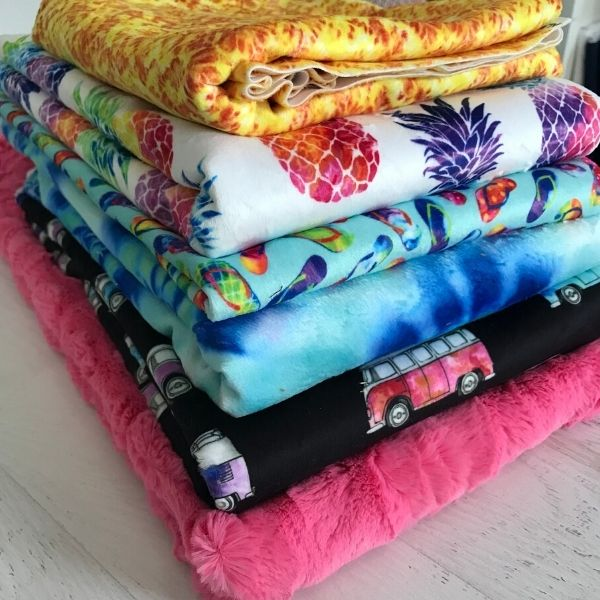 Look at how yummy this fabric stack of Good Vibes is. You can just feel how soft the fabric is and I just want to cuddle up under it.