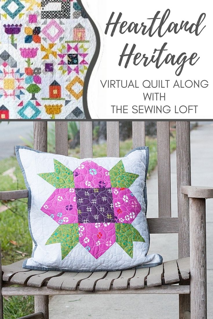 Slice through the cutting time of half square triangles with this easy tip used to create the Wildflower Block from Heartland Heritage.