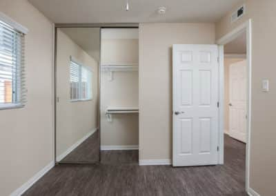 View of bedroom with walk-in closet space
