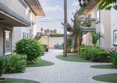 landscaping and garden walk ways