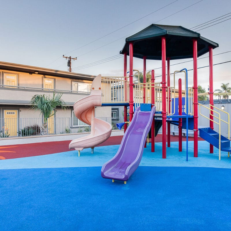 Colorful Playground with slides