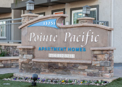 Pointe Pacific Apartment Homes Sign