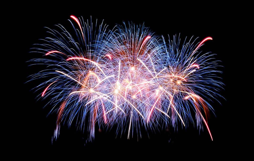 fireworks near Westminster
