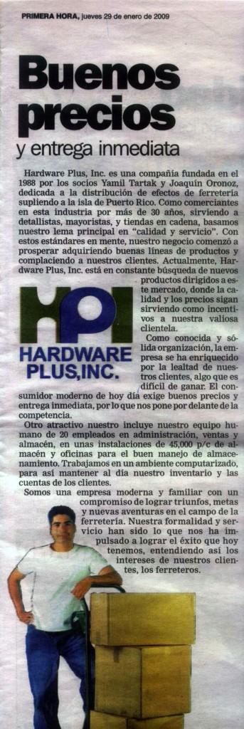 Hardware Plus, Inc. en Primera Hora