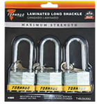 LAMINATED LOCK LONG SHACKLE 3PACK