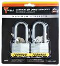 LAMINATED LOCK LONG SHACKLE- 2 PACK