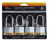 LAMINATED LOCK LONG SHACKLE- 4PACK