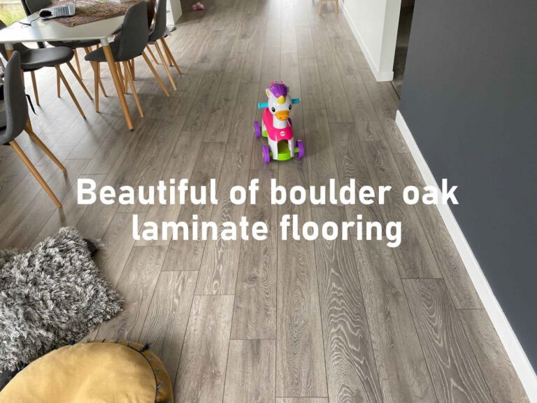Beautiful of boulder oak laminate floor covering, Krono high quality flooring made in Germany, Nordic Modern gray.