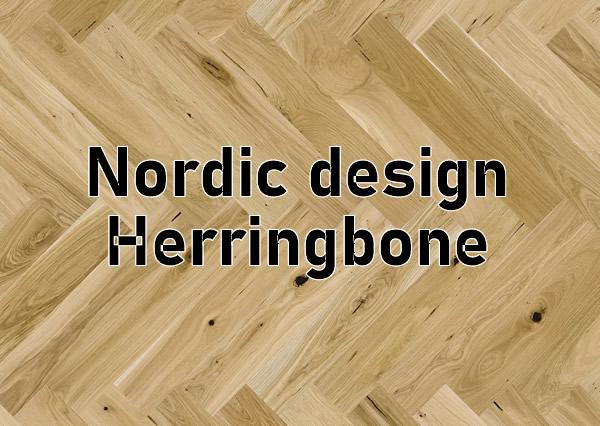 Nordic Herringbone style design wood flooring ,wall,kitchen and bathroom