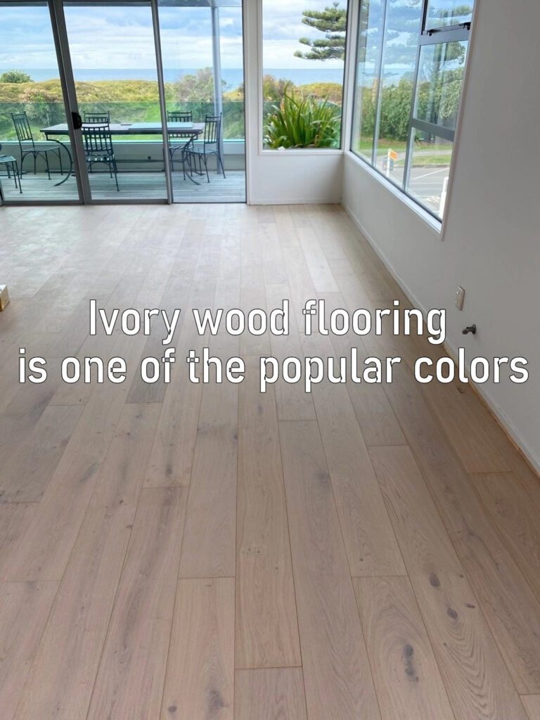 Ivory wood flooring is one of the most popular colors.