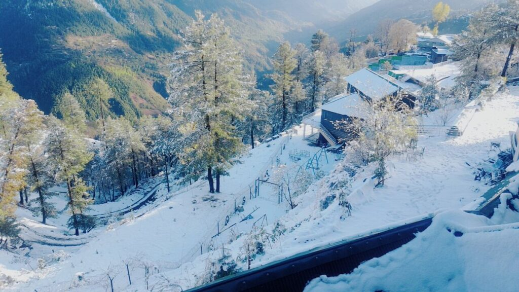 Snow covered mountains in Muree, Pakistan