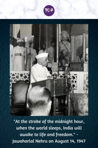Happy Independence Day India - Nehru 's A Tryst With Destiny Speech