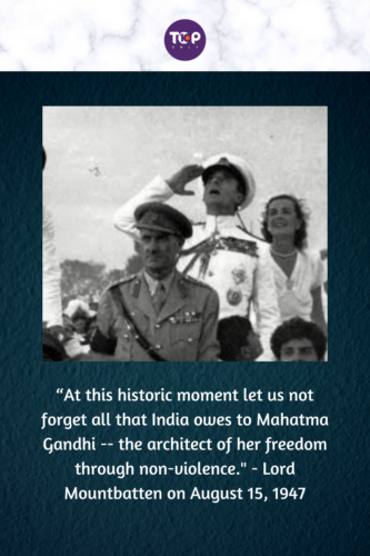 Happy Independence Day India - Lord Mountbatten and Lady Mountbatten Saluting the Indian Flag