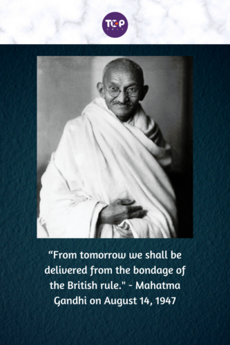 Happy Independence Day India - Mahatma Gandhiji on the eve of Indian Independence