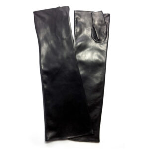 long leather sleeves for men