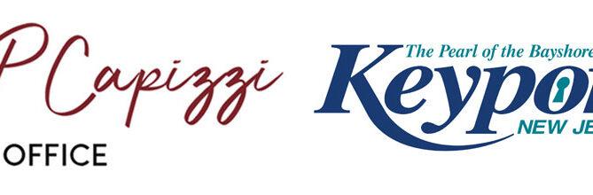 JP Capizzi logo and Borough of Keyport Logo