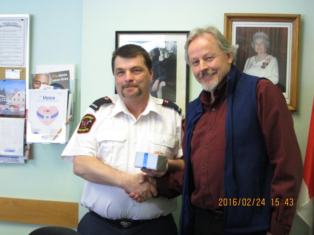 James Leeder receiving 5 year Service Award