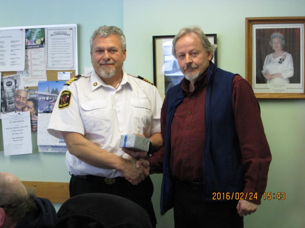Paul Schaefer receiving 20 year Service Award