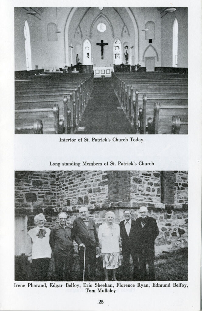 Shows the inside of the Church from the doors leading in