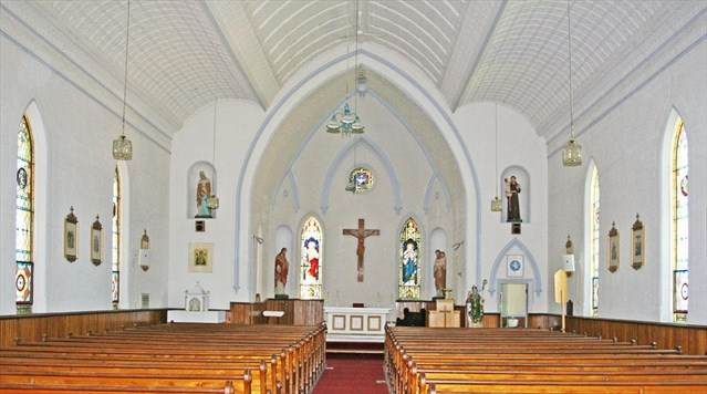 Interior colour view of front alter