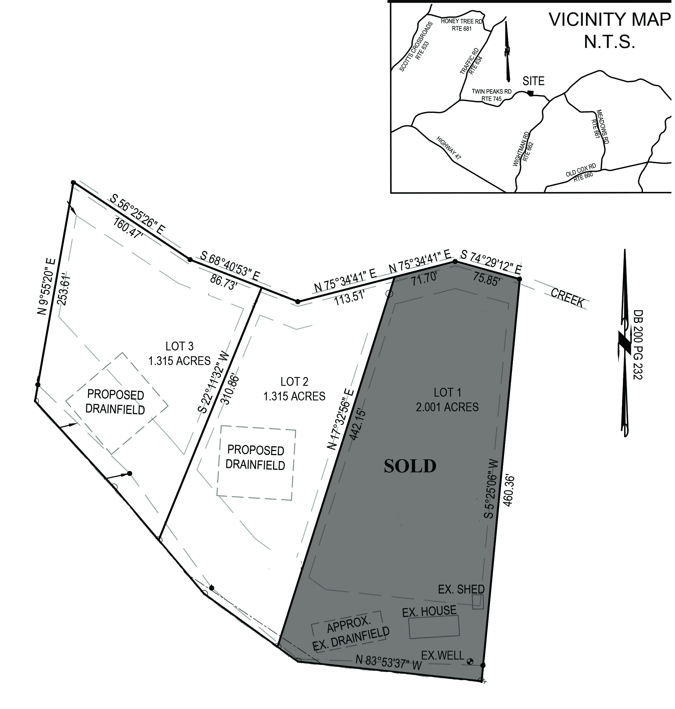 Land for Sale in Chase City on Twin Peaks Road