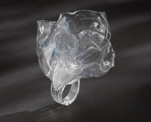 Ring-Plastic water bottle.