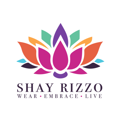 Logo of Shay Rizzo showing bright colors within a flower design