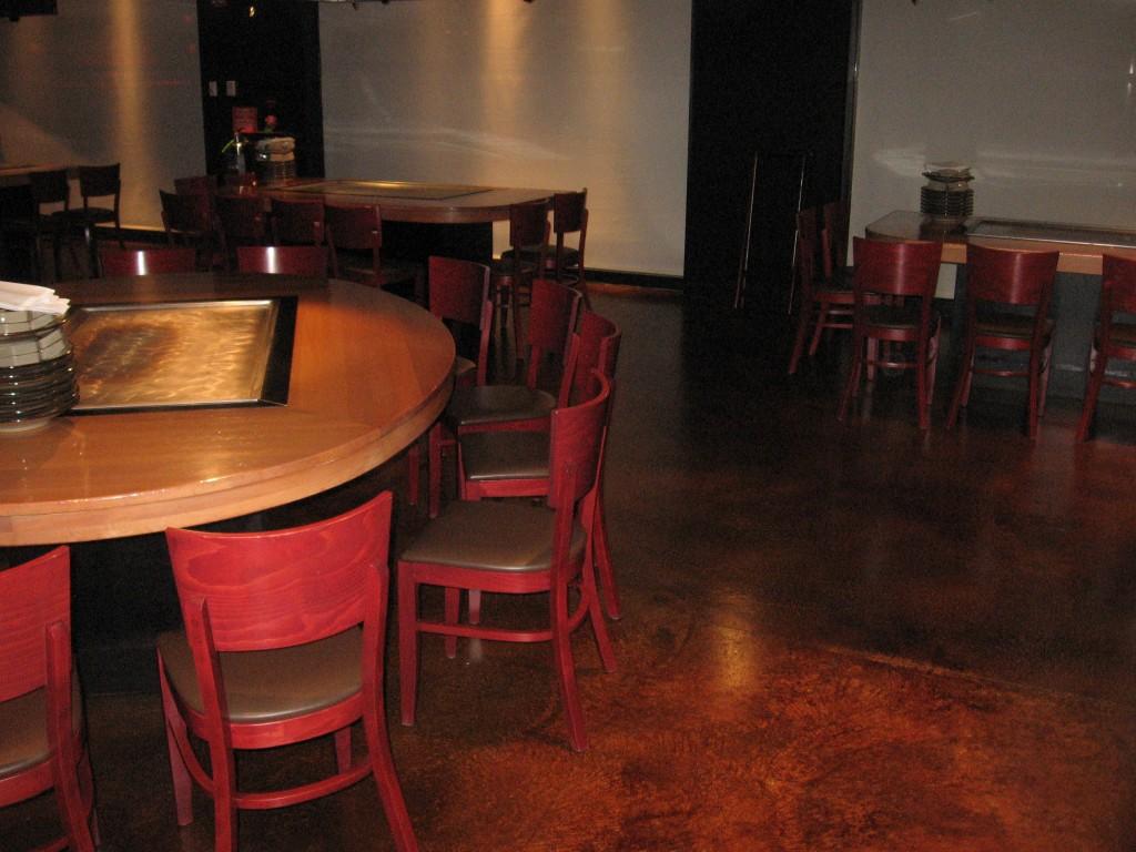 Restaurant Floors Acid Stains
