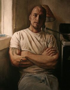 """Resigned 20"""" x 30"""" Oil on Canvas 2009"""