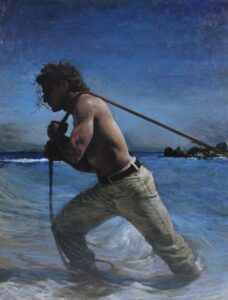 Slip - Oil on Canvas, 30 in x 48 in
