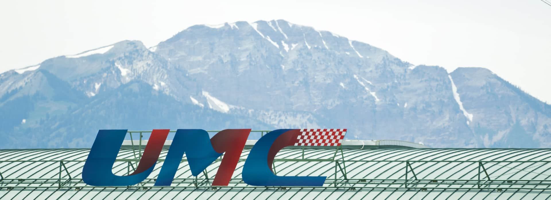 Utah Motorsports Campus Logo in the Salt Lake Valley Background