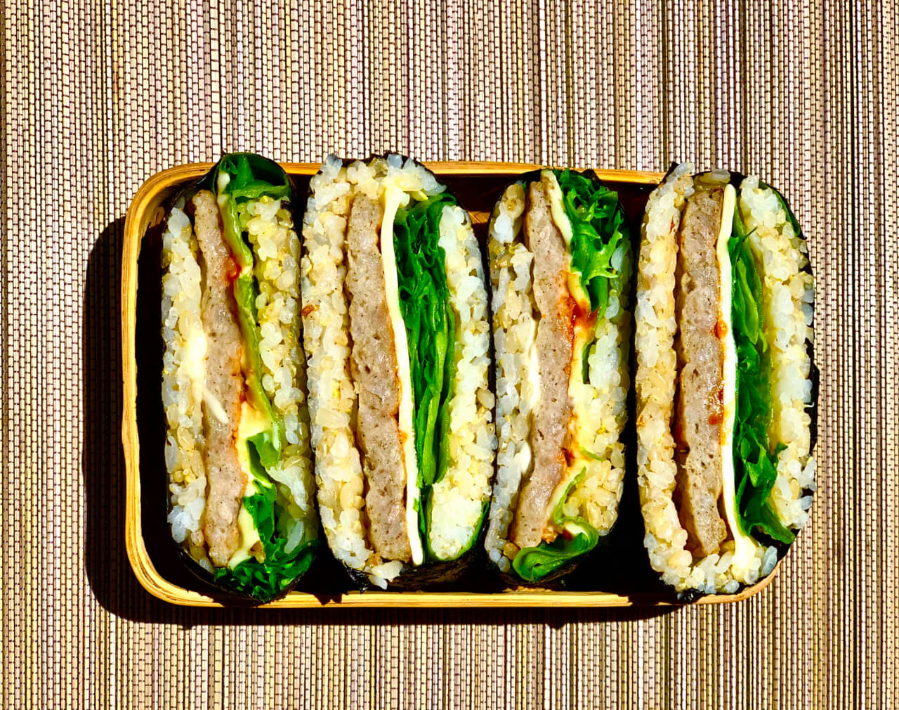 Breakfast Sausage Onigirazu