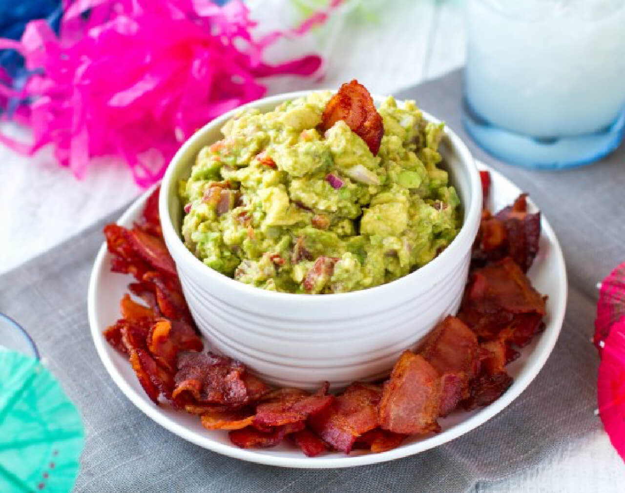 Bacon Chips and Homemade Guacamole
