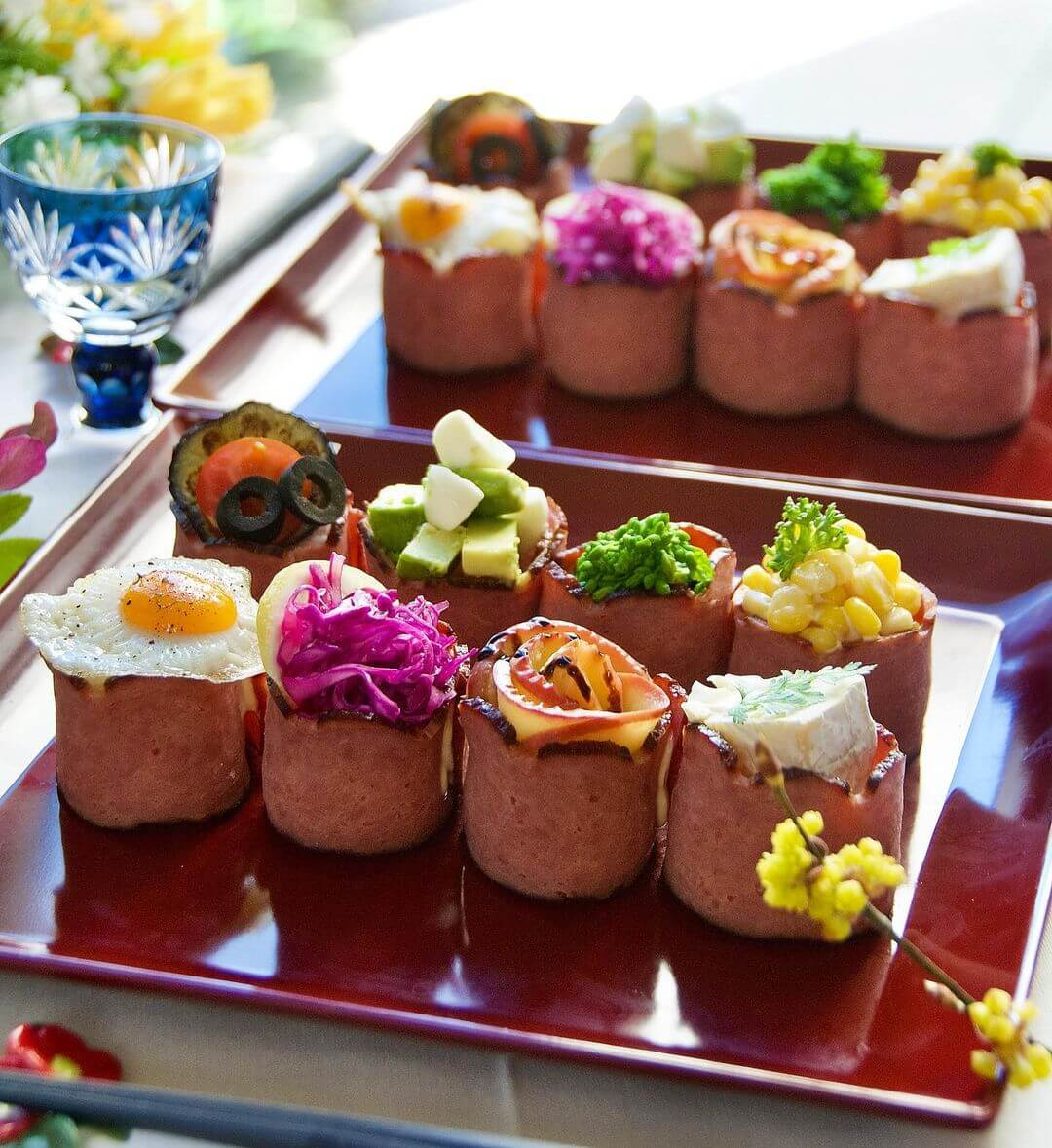 Turkey Bacon Sushi Rolls