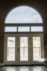 Large open French doors