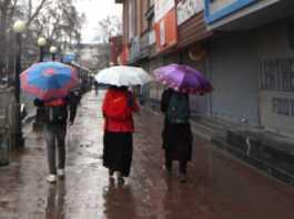 Rain in Kashmir