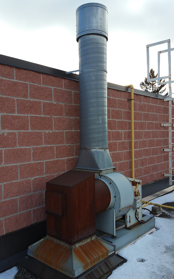 Commercial Kitchen Exhaust Fan Replacement