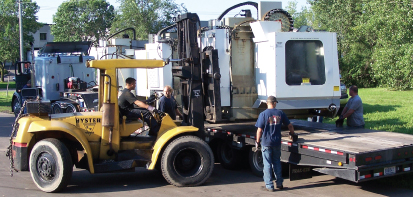 Fork Lift Action at RR Machinery