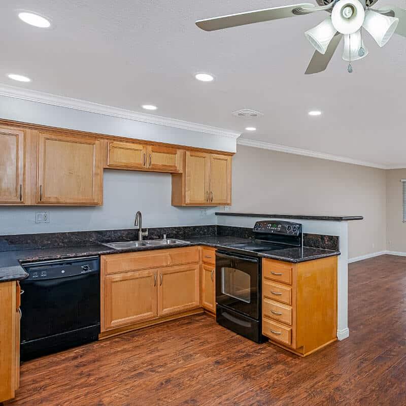 Wood style kitchen