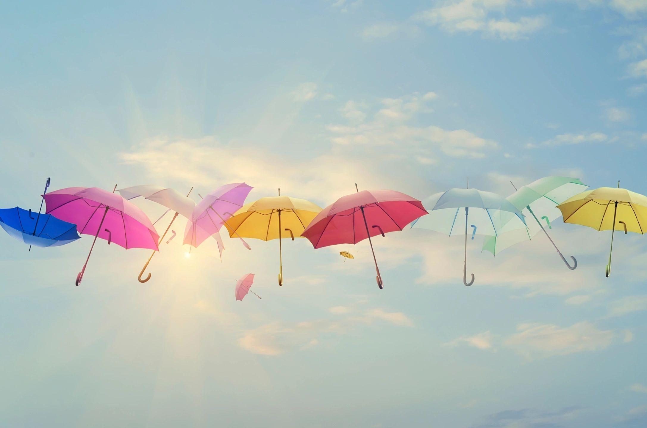 umbrellas-floating
