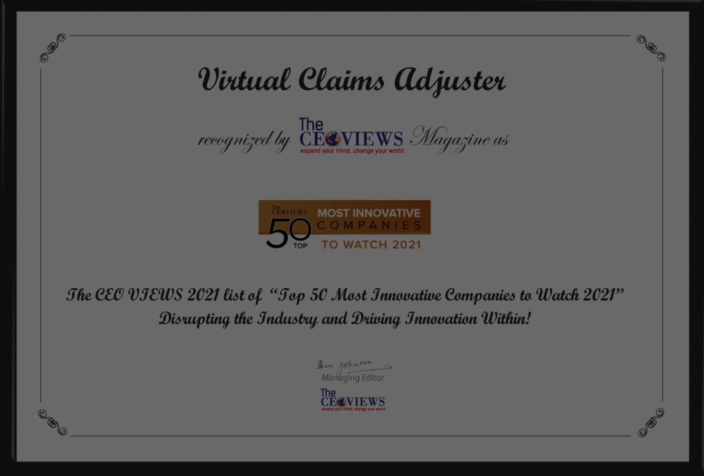 The CEO Views Names Virtual Claims Adjuster a Top 50 Most Innovative Company to Watch in 2021