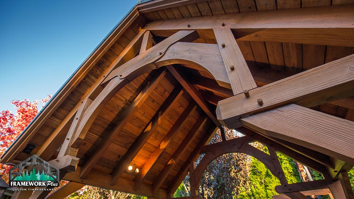 Custom pavilion built by Framework Plus in Estacada, OR