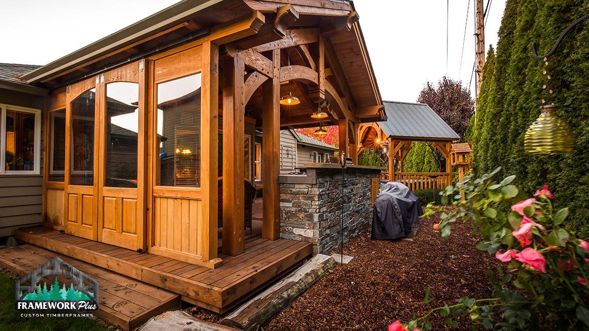Outdoor walkways and pavilions custom made by Framework Plus in Estacada, OR