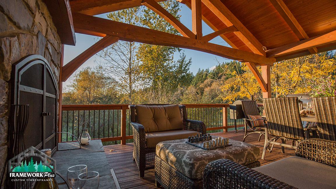 Hardwood deck design in Portland, OR built by Framework Plus