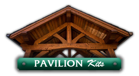 Wooden pavilion kits designed by timber pavilion kit company Framework Plus in Estacada, OR