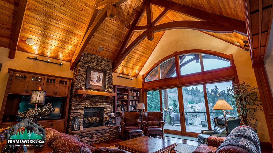 The inside of a house with custom woodwork from Framework Plus in Portland, OR