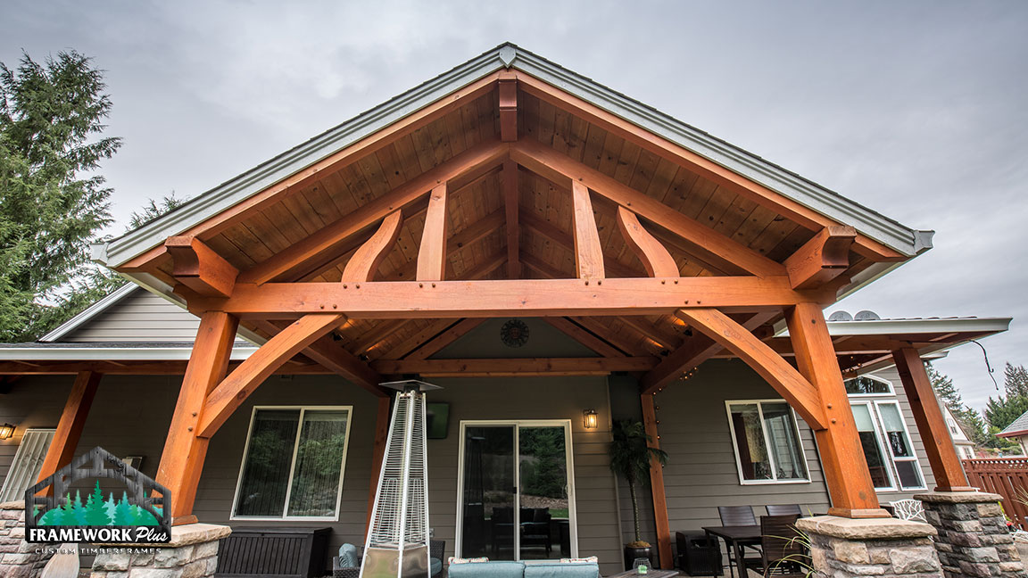 An overhand on a house custom made by Framework Plus in Portland, OR
