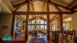 The inside of a house with custom woodwork designed by Framework Plus in Estacada, OR